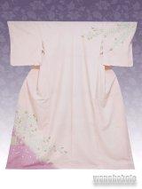 洗える着物  国産袷附下 フリーサイズ 薄ピンク系/桜柄 KTK-11