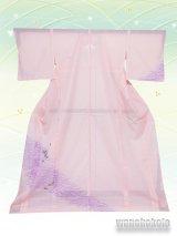 洗える着物  国産絽附下 フリーサイズ ピンク系/蝶柄 KRT-75