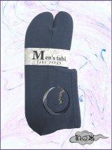 男性用ストレッチ刺繍足袋 Fサイズ ブルーグレー系/蝙蝠柄 24.0cm〜26.0cm対応