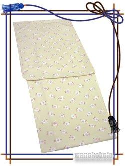 画像2: 洗える着物(袷小紋)Mサイズ+半幅帯(小袋帯)★セット/帯飾り付き 虹-114