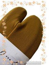 ストレッチ無地カラー足袋■黄土色系 フリーサイズ 23.0cm〜24.5cm対応