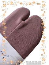 ストレッチ無地カラー足袋■オールドライラック系 フリーサイズ 23.0cm〜24.5cm対応