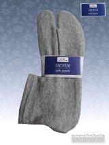 ストレッチニットデニムのような足袋■グレー系 23.0cm〜24.5cm対応