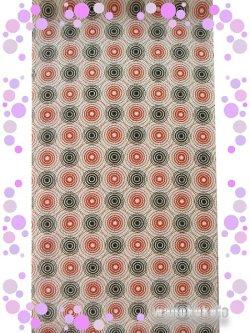 画像2: Casual半衿 ポリエステル ベージュ系/波紋柄 CAH-159