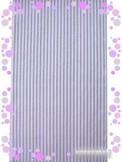 画像2: Casual半衿 ポリエステル 白系×藤色系/ストライプ柄 CAH-169