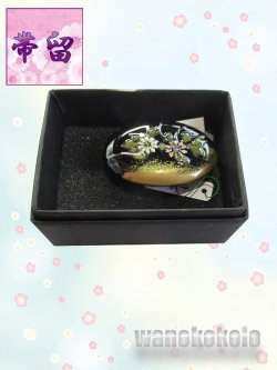 画像1: 帯留め 手描き 小菊柄 ODM-11