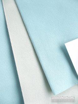 画像2: 国産浴衣帯(両面帯) リバーシブル パウダーブルー系/オフホワイト系 MO-292