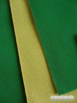 画像2: 国産浴衣帯(両面帯) リバーシブル グリーン系/オリーブイエロー系 MO-289