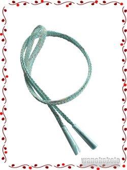 画像1: 正絹夏物レース帯〆 平織 水色系 SNGM-10