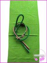 振袖用正絹帯〆・帯揚げセット グリーン系×ピンク系/黄緑色系金タタキ柄 FGA-227