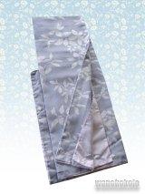 洗える着物 袷小紋 平織「M」 グレー系/リーフ柄 AHM-401