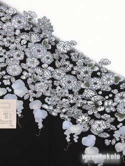 画像3: 洗える着物 国産袷附下 フリーサイズ 白系/辻が花柄 KTK-163