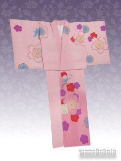 画像2: 洗える着物  国産袷附下 フリーサイズ ピンク系/桜柄 KTK-126