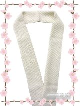 ビーズ半衿★Handmade ロイヤルキャビア★オフホワイト系 1