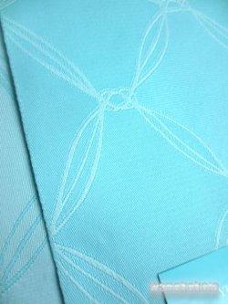 画像2: 国産浴衣帯(柄帯)水色系/幾何学柄 GO-585