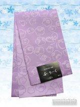 国産浴衣帯(柄帯)ライラック系/花と蝶柄ラメ入 GO-479