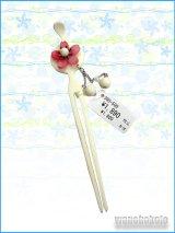 浴衣向きかんざし★クリーム系/桜柄 KYKK-21