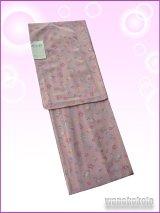 洗える着物 国産単衣の着物 希少「BL」梅ねず色系/花ちらし柄 HKBL-97